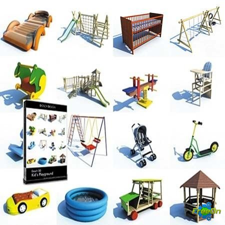 DOSCH DESIGN - 3D Kid's Playground (3D модели 3d Max)