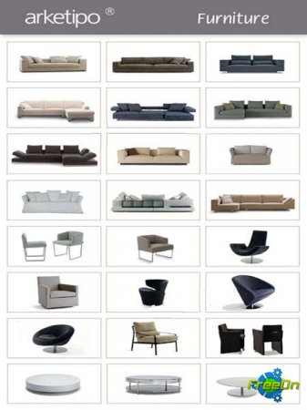 3D models of Furniture Arketipo / 3D модели мебели Arketipo